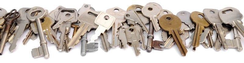 Row of keys header