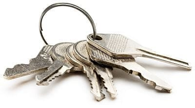 set of newly cut keys for all house doors